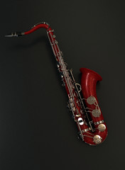Customized sax on dark background