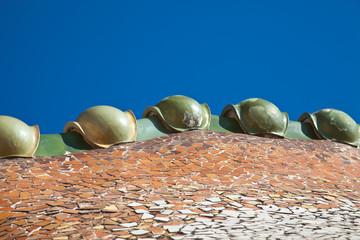 Bóveda con forma de dragón. Casa Batlló, Barcelona