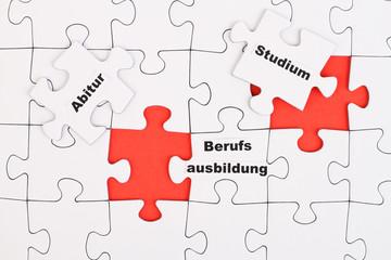 Puzzle Ausbildung / Studium