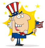 Cheery Uncle Sam In Front Of A Star poster