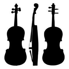 old violin sides - vector