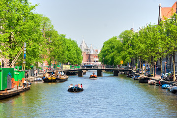 Amsterdam, Canal and bike.