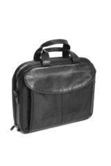 Luxury business black briefcase isolaetd