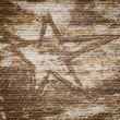 Grungy star on a handmade paper texture
