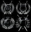 Vector shields and laurel wreaths