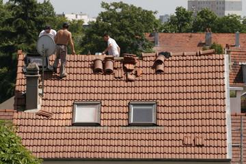 Rénovation de toit, tuiles, Couvreurs