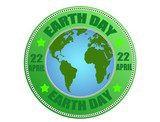 Earth day label poster