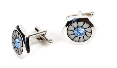 pair of platinum cufflinks