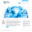 website design template - white and blue colors