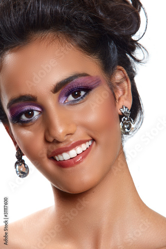 beautiful woman with earrings.