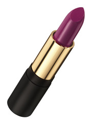 Purple lipstick with black and gold casing