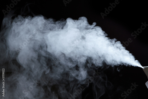 Steam from  air saturator