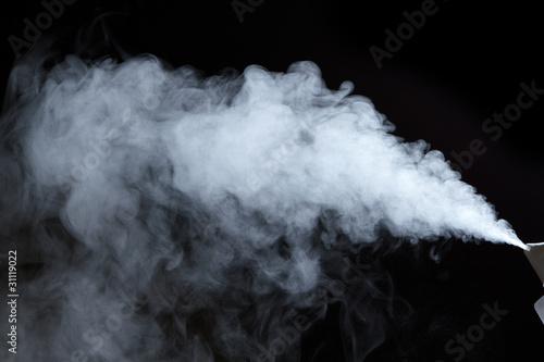 Fototapeta Steam from air saturator
