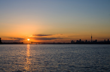 Auckland City and Harbour Sunrise 2