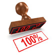 "3d Rubber Stamp - ""100%"""