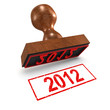 "3d Rubber Stamp - ""2012"""