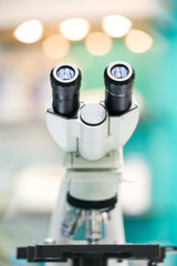 eyepiece of microscope