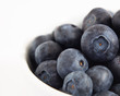 White Bowl of Blueberries