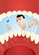zahnarzt cartoon untersuchung zähne