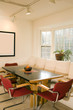 contemporary dining room furniture  bay window