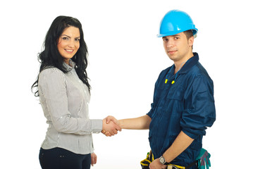 Handshake constructor worker and client
