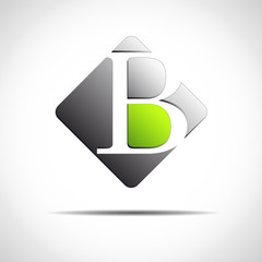 Logo initial letter B on white background # Vector