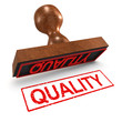 "3d Rubber Stamp - ""Quality"""