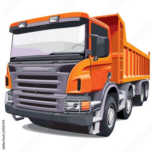 Large orange truck