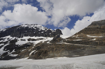 Athabasca Glacier in the Columbia Icefield Jasper Canada