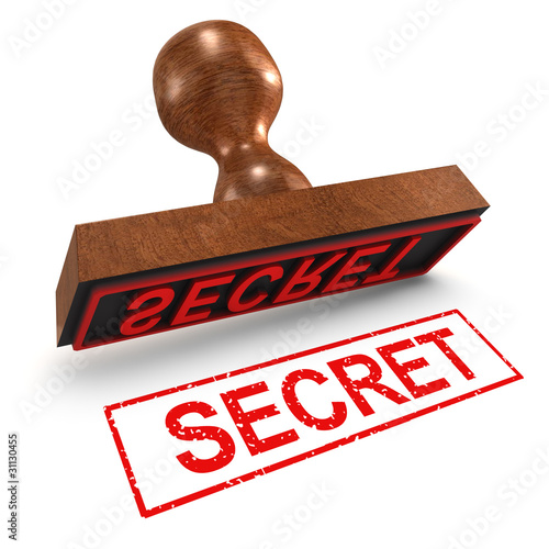 "3d Rubber Stamp - ""Secret"""