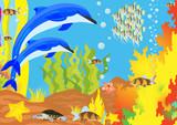 Underwater life poster