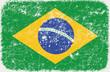 vector grunge styled flag of brasil