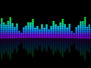 Equalizer over black background