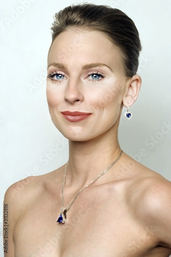 Beautiful woman wearing luxury jewellery