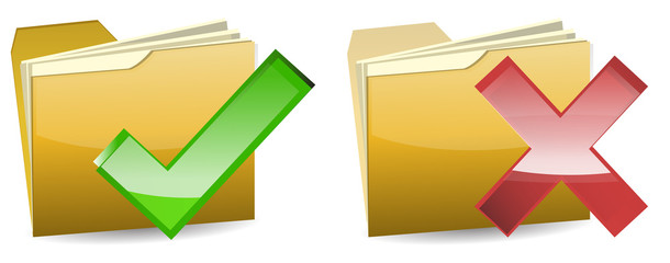 right and wrong yellow folder