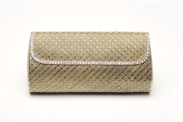 18k white and yellow gold purse hand made from gold wire with 4.30 carats of diamonds
