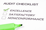 Audit checklist poster