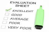 Evaluation sheet poster