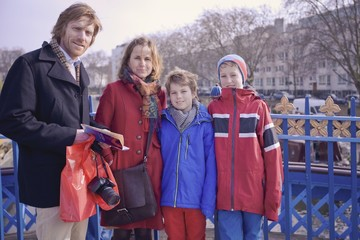A family visiting London