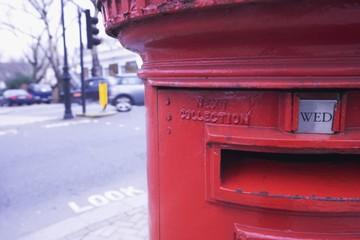 Red letter box in Warwick Avenue