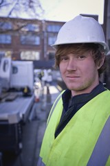 A portrait of a builder
