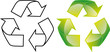 Grüner Punkt Recycle 3