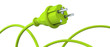Green power plug - dynamic panorama