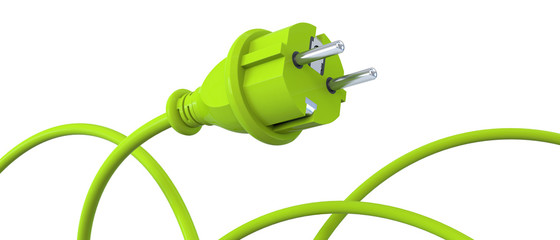 Green power plug - dynamic panorama