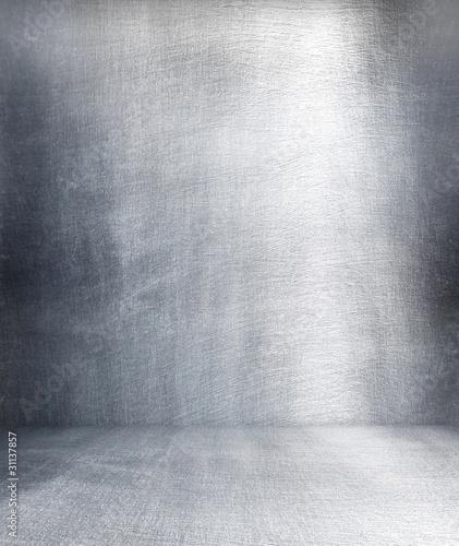 Grunge metalowe wnętrze.