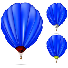 blue balloon isolated on white background