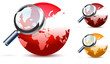 red global search glossy vector icon