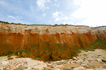 close up of the cliffs