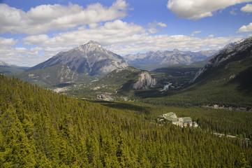 Banff hot springs hotel in Banff National Park Alberta Canada