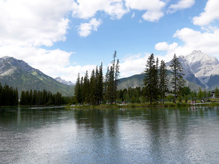 Bow River in Banff National Park in Alberta Canada
